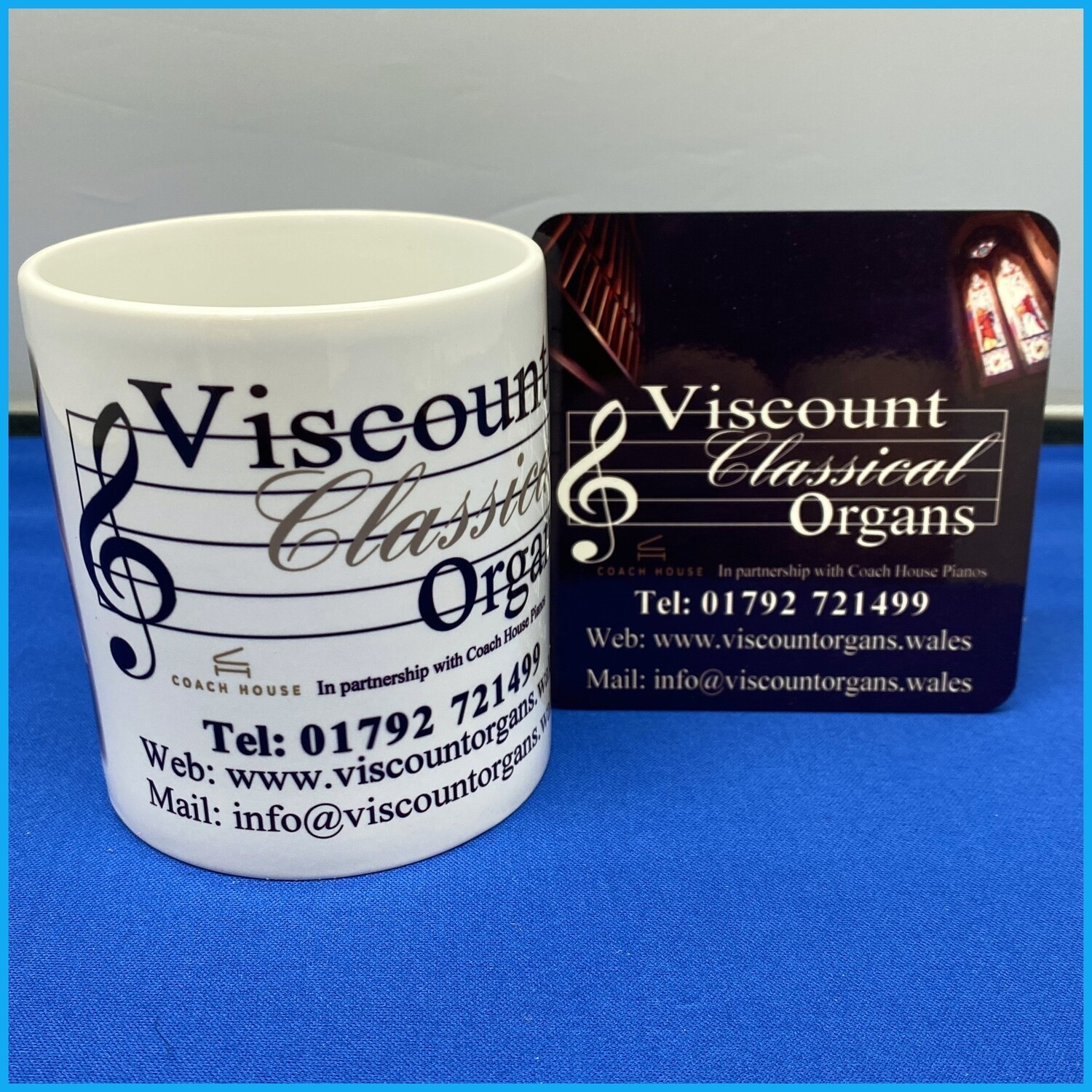 Viscount Mug and Coaster Set