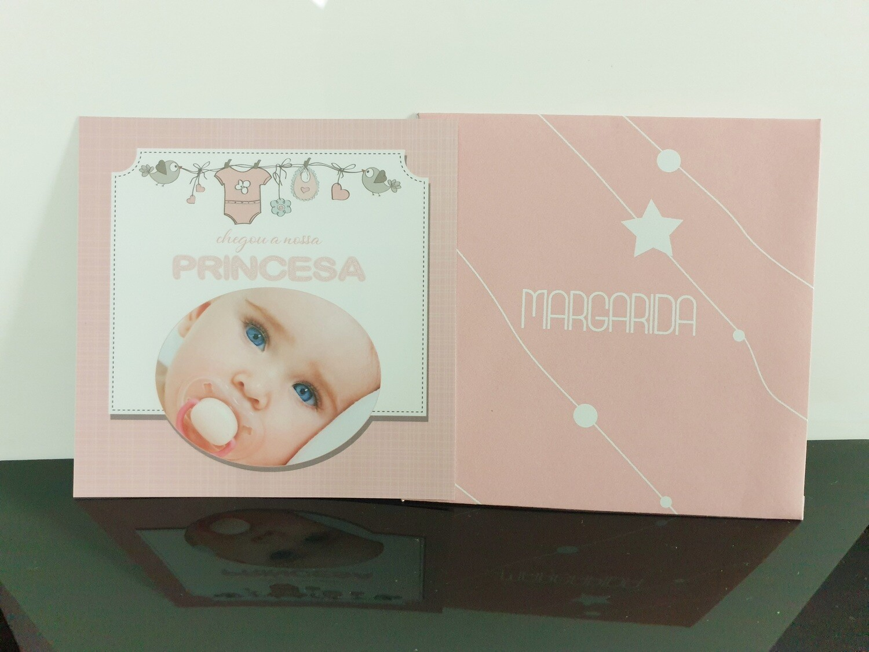Cartão de nascimento de bebé