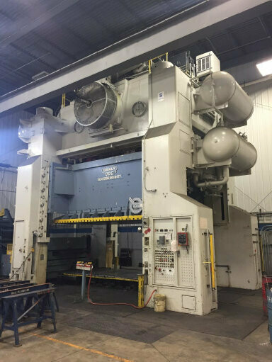 2000 Ton Press For Sale Danly Straight Side Press