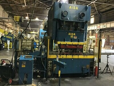 176 Ton Press For Sale Aida 2-Point Gap Frame Press