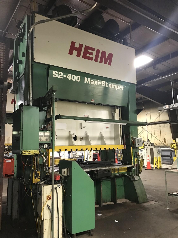 400 Ton Press For Sale Heim Straight Side Press