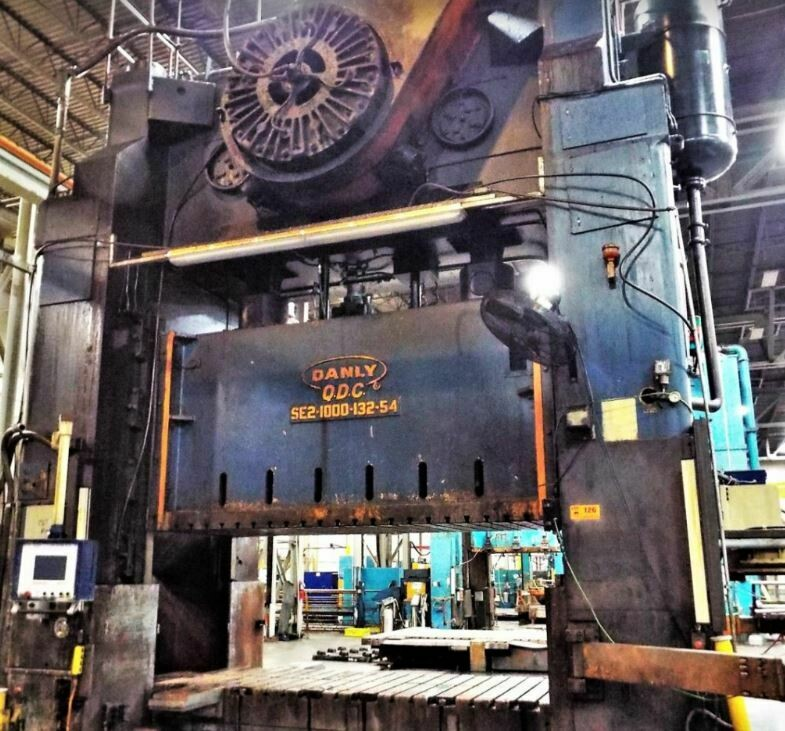 1000 Ton Press For Sale Danly Straight Side