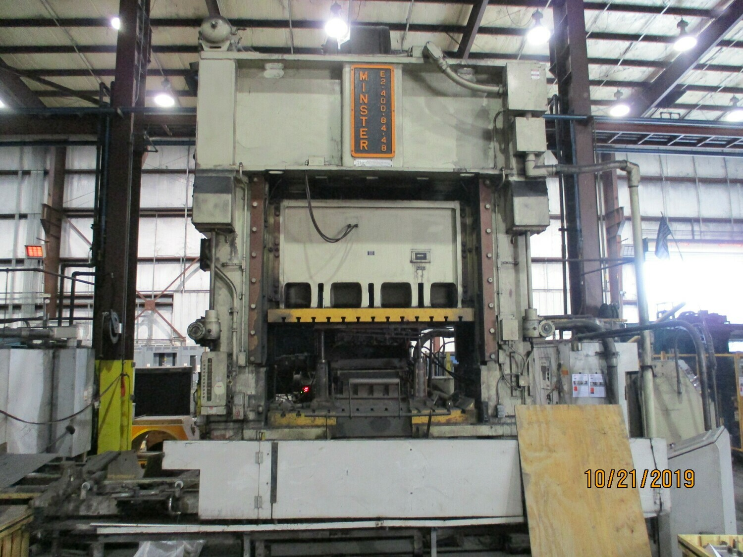 400 Ton Press For Sale Minster Straight Side Press