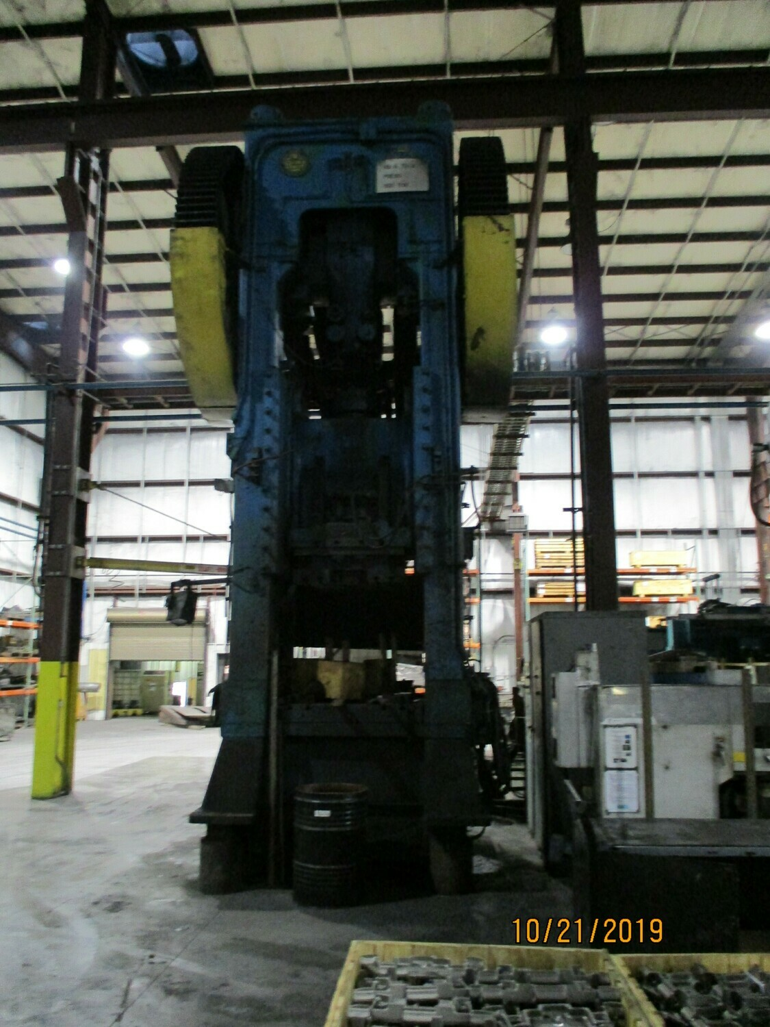 950 Ton Press For Sale Bliss Straight Side Single Point Press