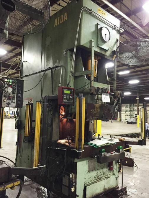 220 Ton Press For Sale Aida Single-Point Gap Press