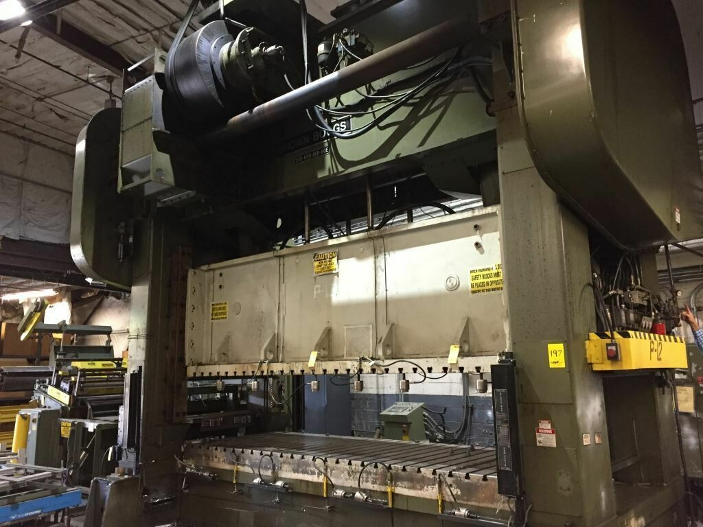 600 Ton Press For Sale Brown and Boggs Straight Side Press