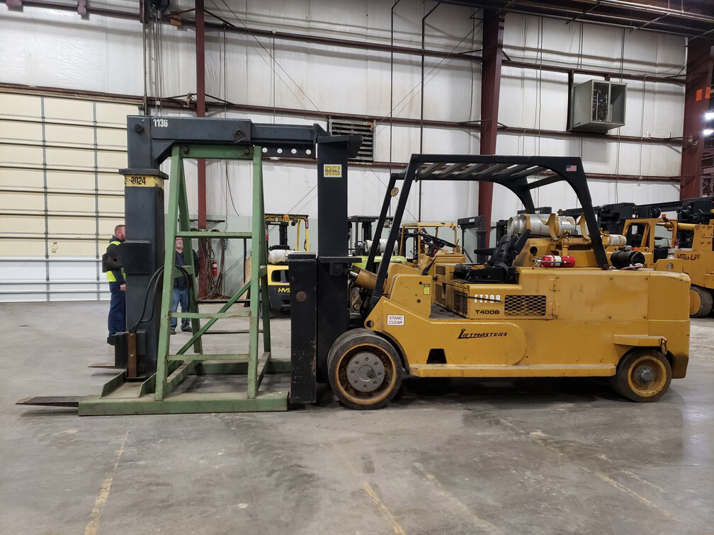 40,000 lb Capacity Royal Solid Tire Forklift For Sale