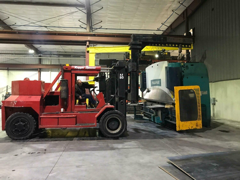 80,000 lbs Bristol Forklift - Model RS80 - For Sale