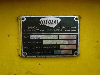 110 Ton Capacity Nicolas Self-Propelled 6-Line Transporter