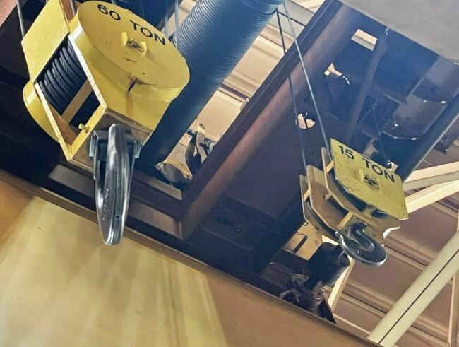 Whiting 60/15 Ton Overhead Bridge Crane For Sale