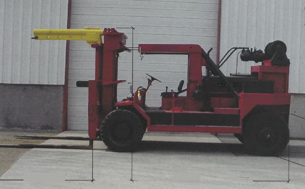 20 Ton Forklift For Sale Taylor Big Red