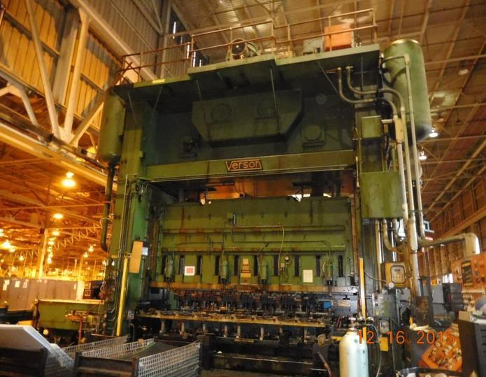 1,000 Ton Verson Straight Side Mechanical Press For Sale