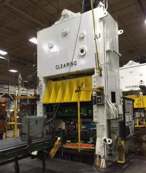 250 Ton Clearing Straight Side Press For Sale