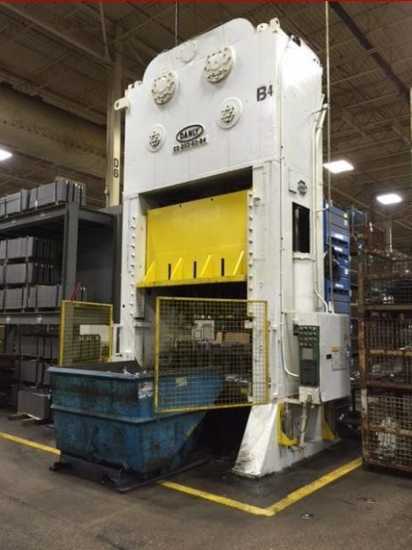 250 Ton Danly Straight Side Press For Sale