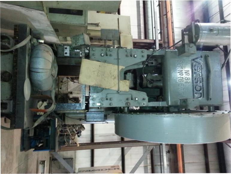 150 Ton Verson No. 8 Punch Press For Sale