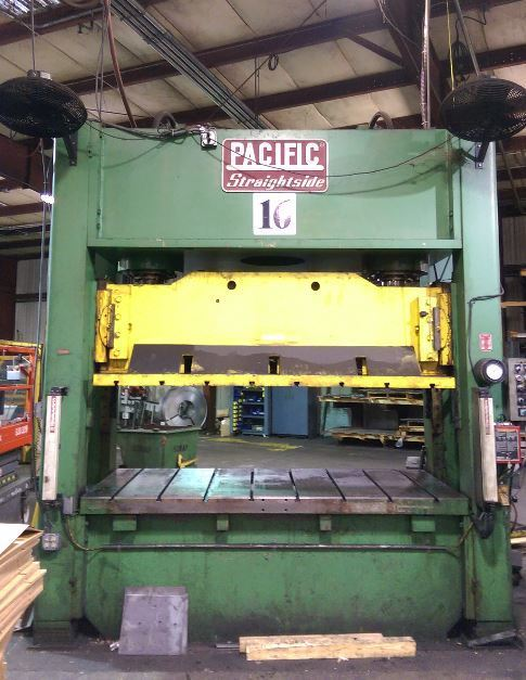 200 Ton Press For Sale Pacific Straight Side Hydraulic Press
