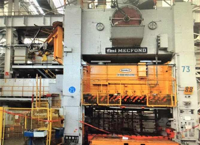 1000 Ton Press For Sale Mecfond-Danly Straight Side Press