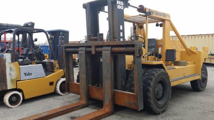 80,000lb Bristol Riggers Forklift - Fork Truck For Sale 40 Ton