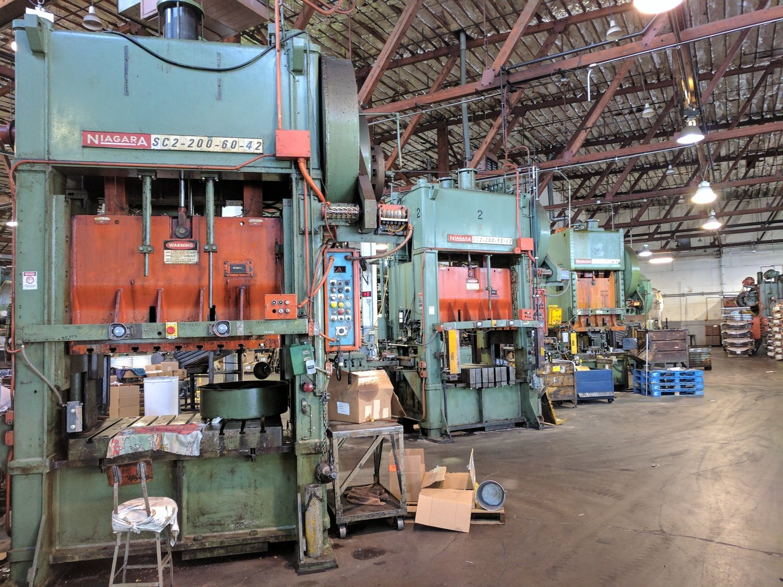 200 Ton Press For Sale Niagara Straight Side Press