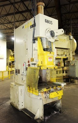 110 Ton Press For Sale Aida Single-Point Gap Frame Press