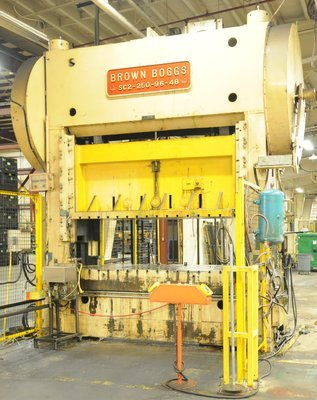 250 Ton Press For Sale Brown & Boggs Straight Side Press