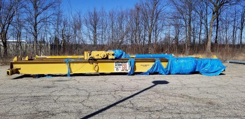 15 Ton Capacity Shepard Niles Overhead Bridge Crane For Sale