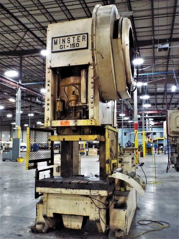 150 Ton Press For Sale Minster Back-Geared OBI Press
