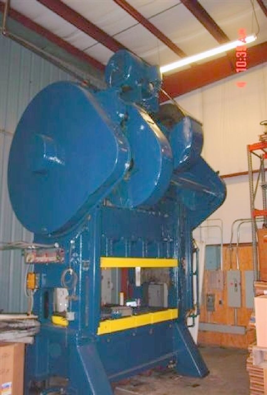 "200 Ton Bliss Straight Side Press with 84"" x 48"" Bed For Sale"