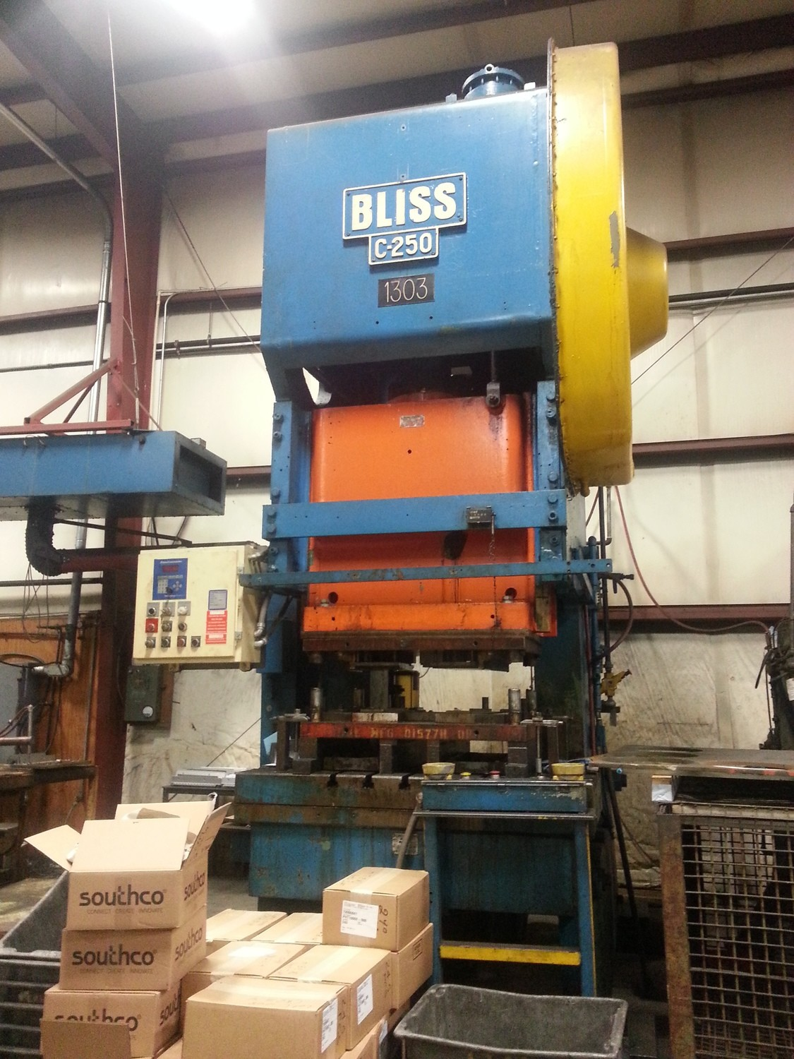 250 Ton Bliss C-250 OBI Used Metal Stamping Punch Press For Sale
