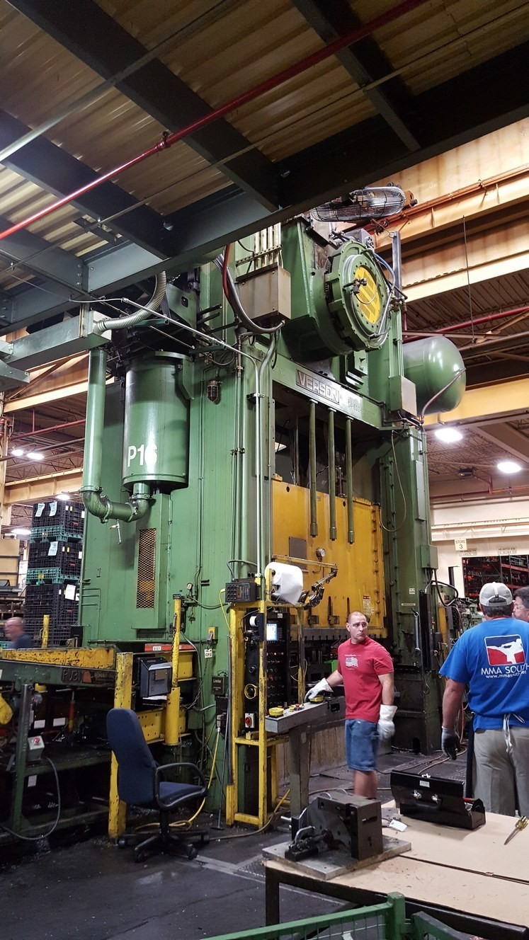 800 Ton Press For Sale Verson Straight Side Press
