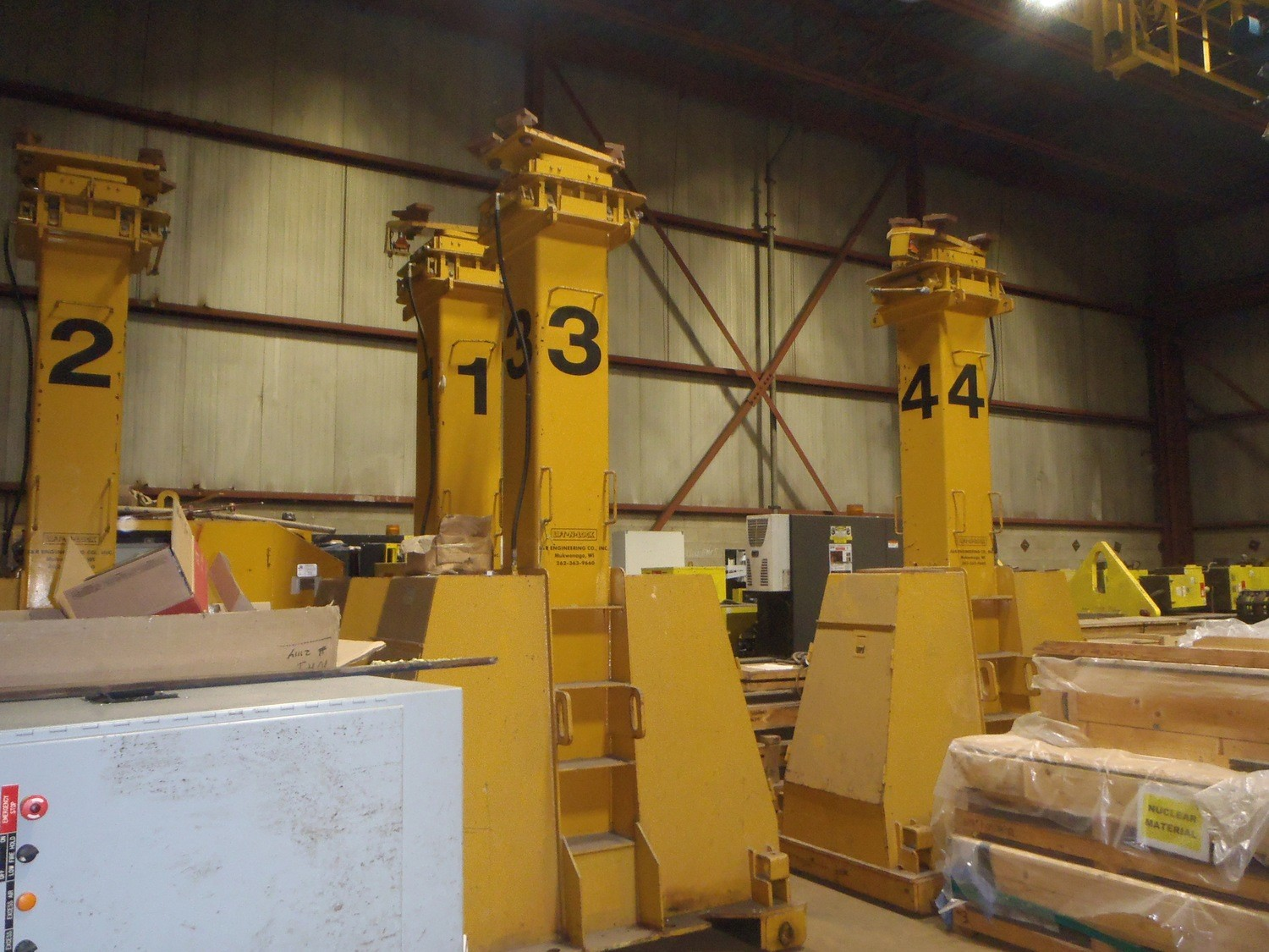 220 Ton J & R Lift-N-Lock Hydraulic Gantry For Sale 200 Ton Metric