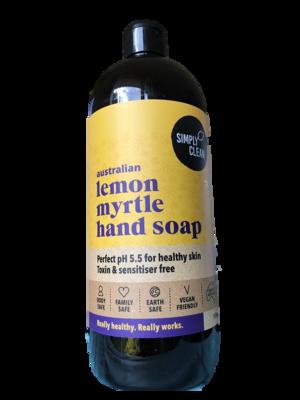 Simply Clean Lemon Myrtle Hand Soap 1ltr bottle