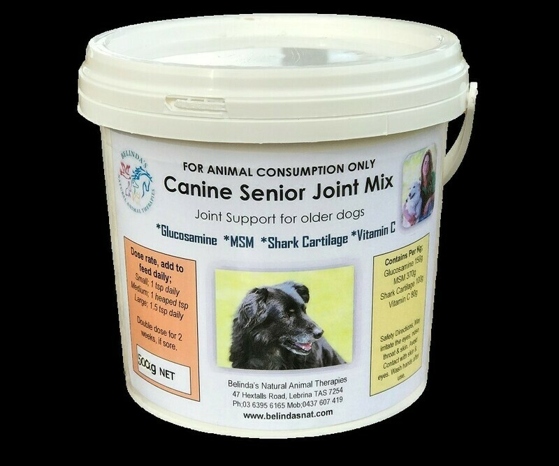 Canine Senior Joint Mix 500g NEW - Inc Postage Aus Wide