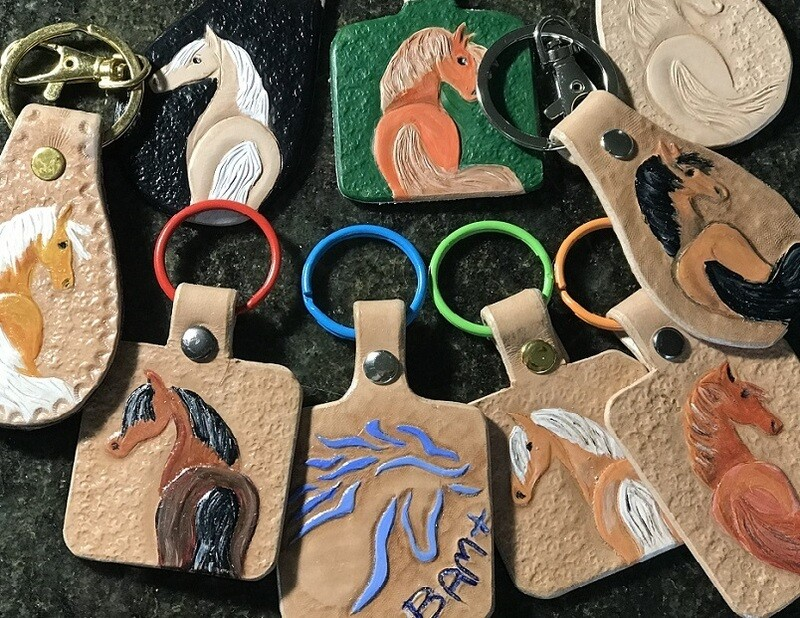Hand Crafted Leather Keyring FREE Postage