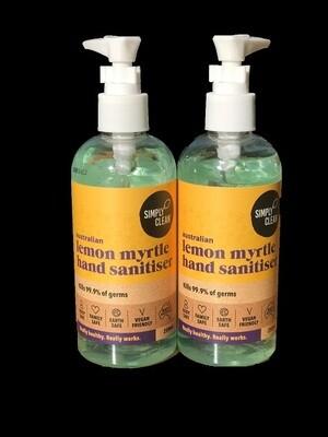 SC Lemon Myrtle Hand Sanitiser 250ml Two Pack Inc Postage Aus Wide