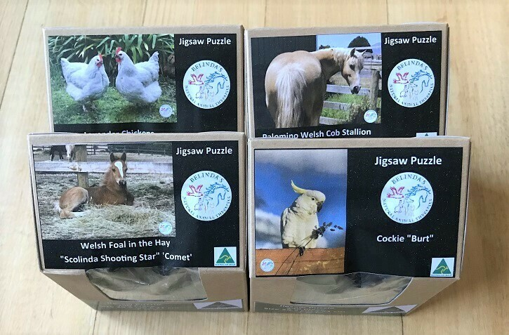 4 x Animal Jigsaw Puzzles A4 - 240 Piece with postage AUS wide