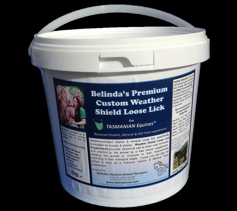 Belinda's Premium Custom Weather Shield Loose Lick Supplement - For TAS Equines, 5kg bucket