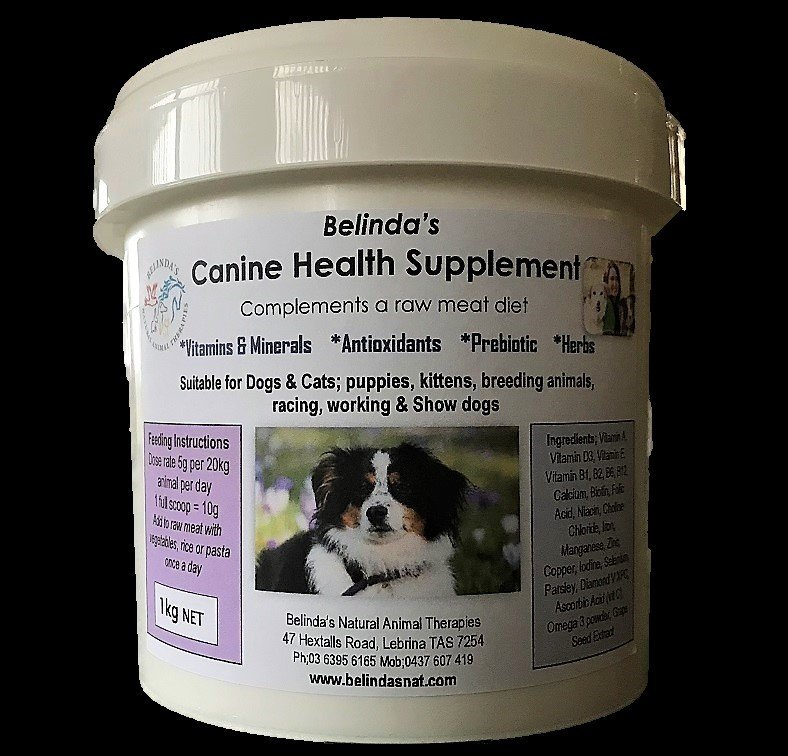 Belinda's Canine Health Supplement Ex Large 1kg NOW Inc Postage Aus Wide