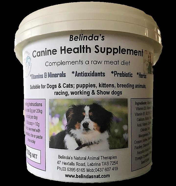 Belinda's Canine Health Supplement Large 500g NOW includes postage Aus Wide