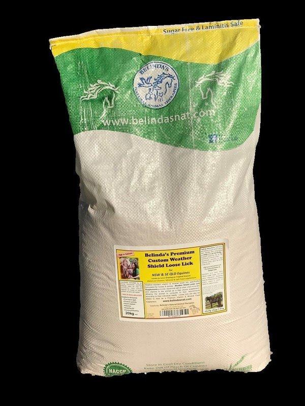 Belinda's Premium Weather Shield Loose Lick Supplement - For NSW & QLD Equines, 20kg bulk bag