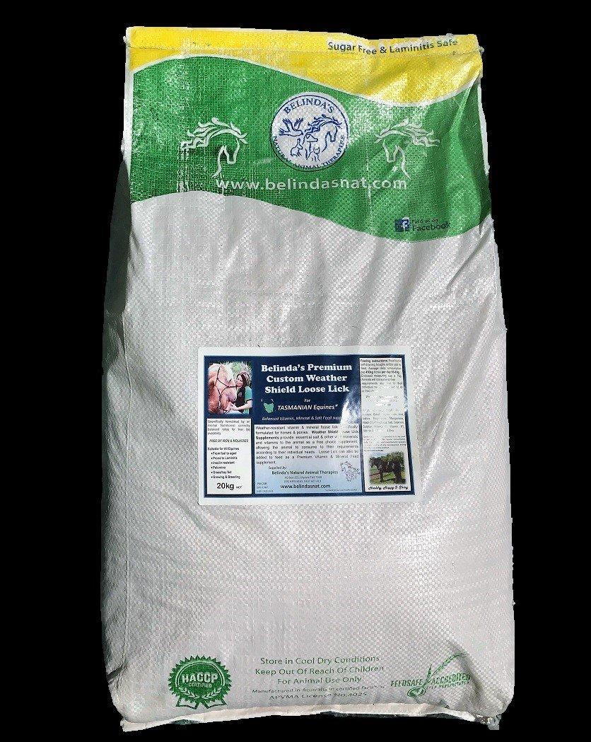 Belinda's Premium Custom Weather Shield Loose Lick Supplement - For TAS Equines, 20kg bag