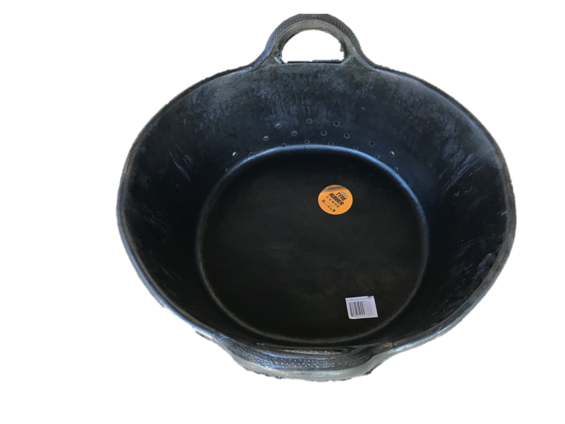 Tyre Rubber Tub - Large 20ltr Self- draining trough - TAS orders only