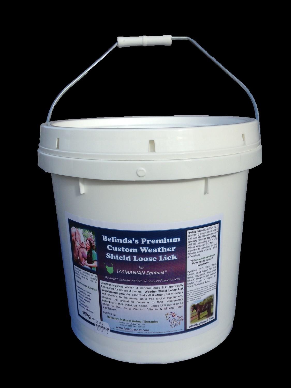 Belinda's Premium Custom Weather Shield Loose Lick Supplement - For TAS Equines, 10kg bucket