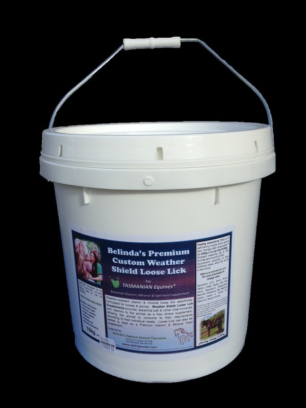 Belinda's Premium Custom Weather Shield Loose Lick Supplement - For TAS Equines, 10kg bucket