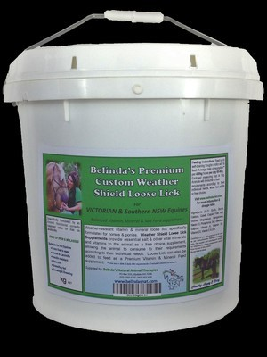 Belinda's Premium Custom Weather Shield Loose Lick Supplement - For VIC Equines, 10kg bucket