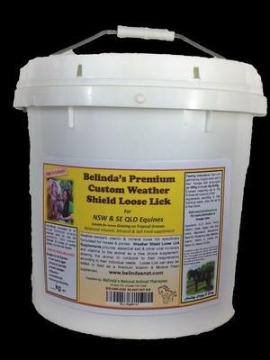 Belinda's Premium Custom Weather Shield Loose Lick Supplement - For NSW & QLD Equines, 10kg bucket