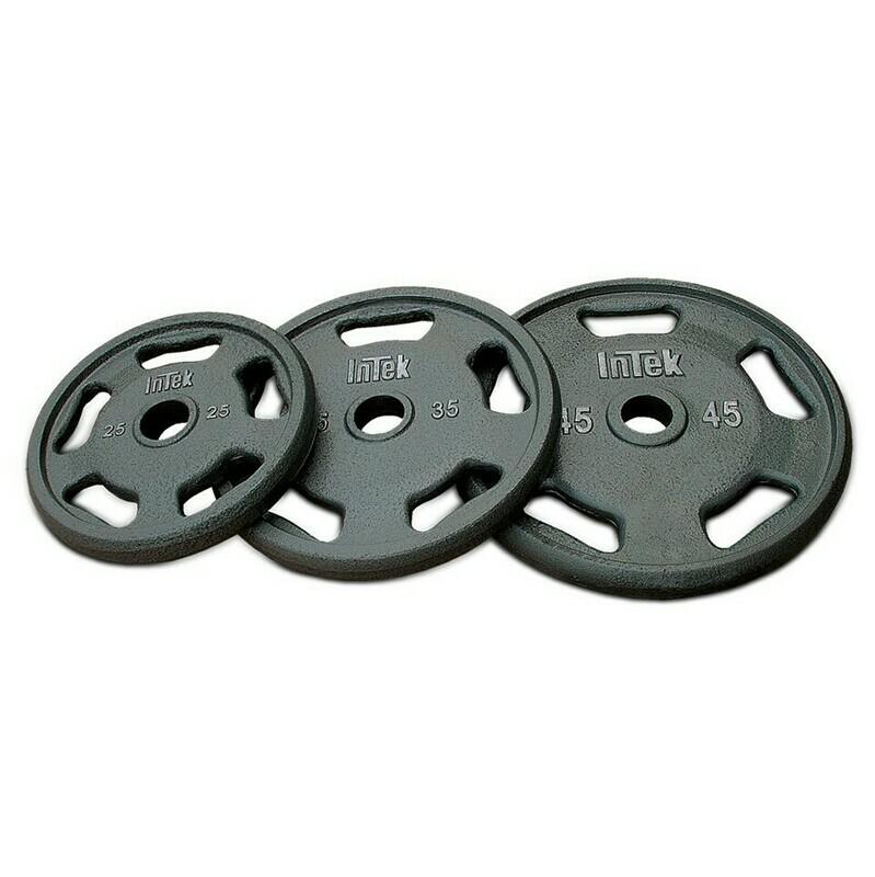 INTEK Strength Gray Cast Steel Olympic Plate Set