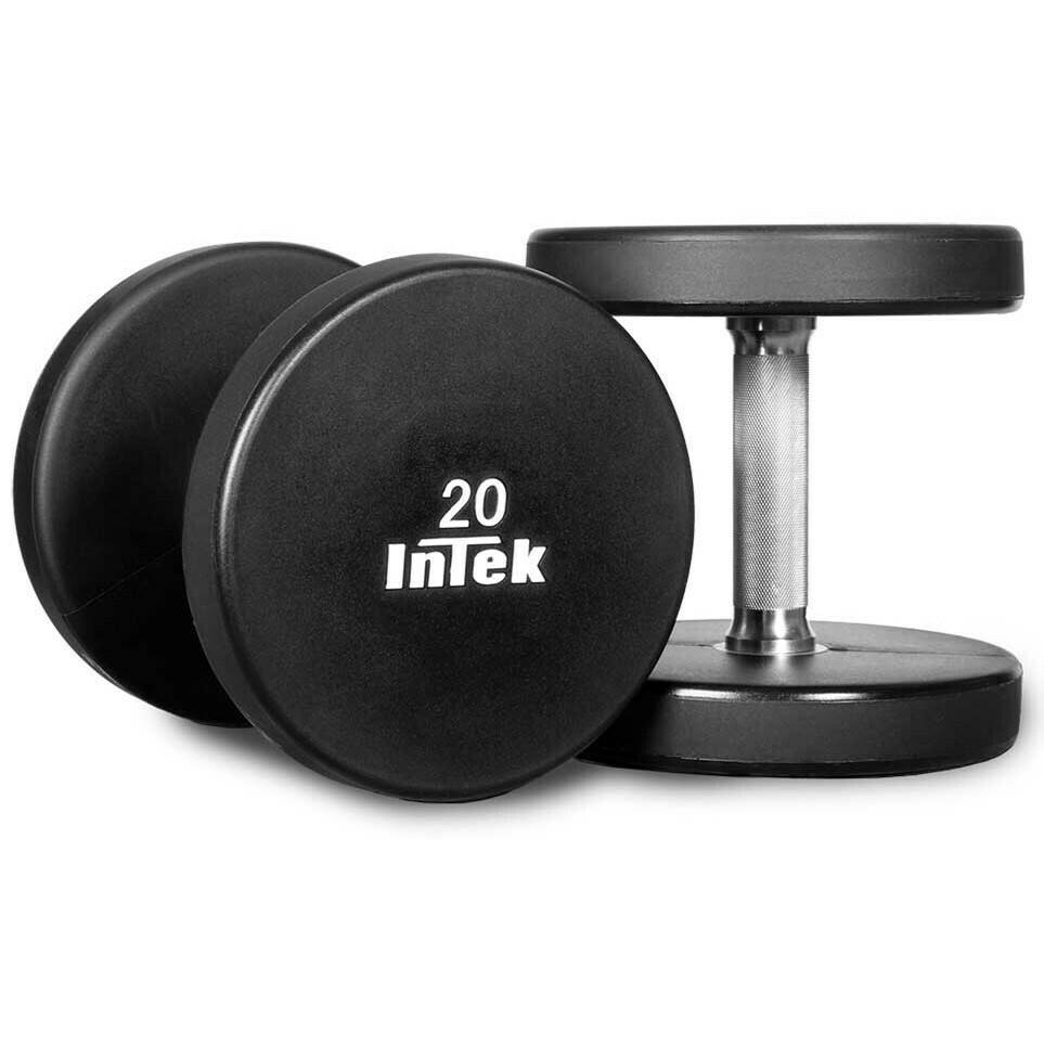 INTEK Strength Armor Series Urethane Dumbbell Set, 7.5 - 27.5 lb