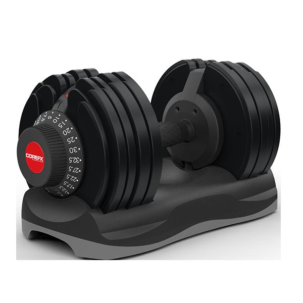 COREFX Adjustable Dumbbell Set, 5 - 70 lbs