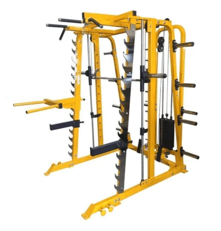 Power Body Smith Machine Half Rack Combo With High Lat/ Low Row Pulley